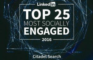 Linkedin Top 25 Most Socially Engaged 2016