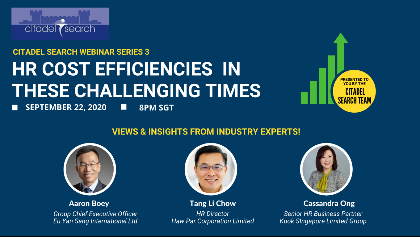 Webinar: HR Cost Efficiencies In These Challenging Times reveals some exclusive human resource management insights you should not miss out!